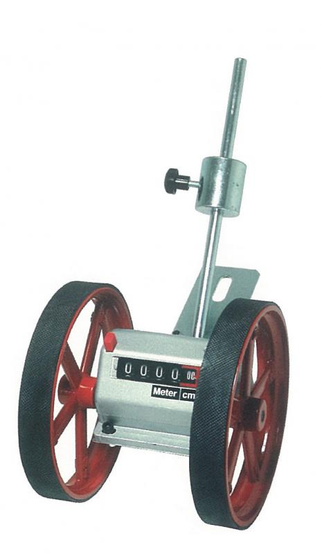 Meter counter with double wheel